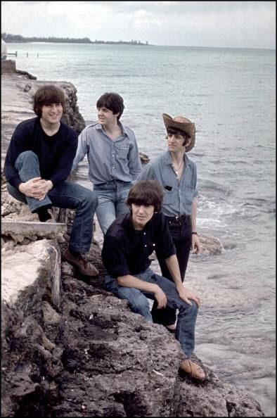 26th February 1965. The Beatles spent the day filming scenes for Help! on New Providence Island, Bahamas.