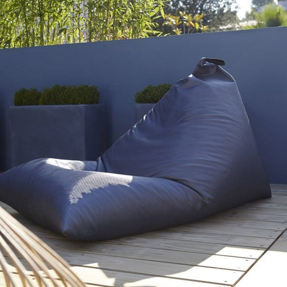 Pouf De Jardin En Tissu Berlingot Gris Pouf Exterieur Pouf Jardin Et Pouf