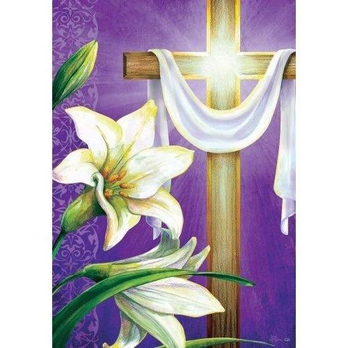 Glory Of Easter House Flag In 2020 Easter Flags Easter Art Flag Decor