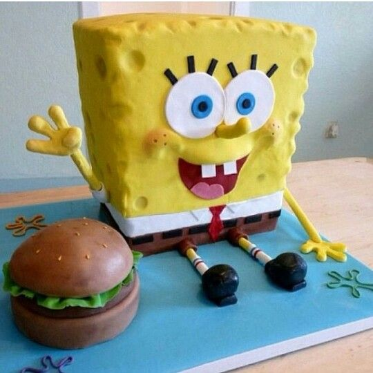 Spongebob/krabby patty cake YUMM
