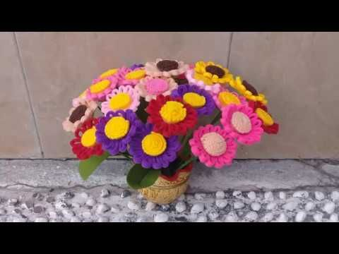 Cara Mudah Membuat Bunga Daisy Bunga Aster Dari Kain Flanel