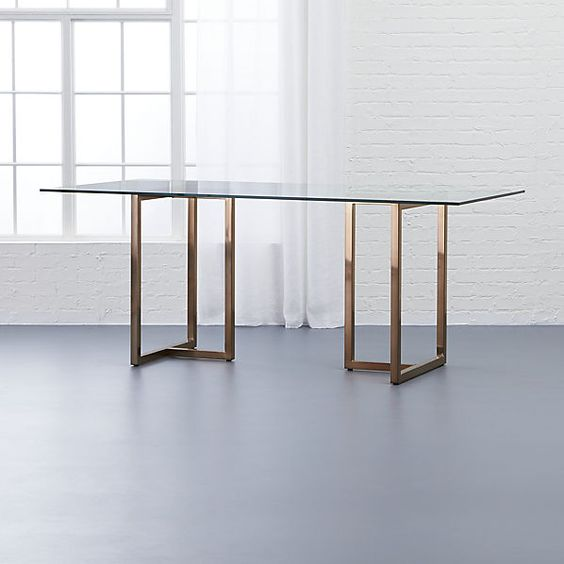 "Dazzelton Dining Room Table: Silverado Brass 72"""" Rectangular Dining Table"