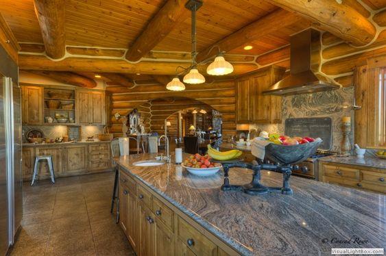 Log Homes - Kitchen