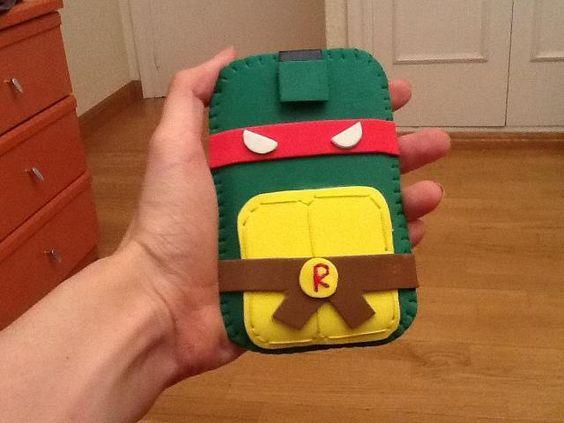 Funda goma eva de Tortuga Ninja/Ninja Turtle mobile case with foam rubber