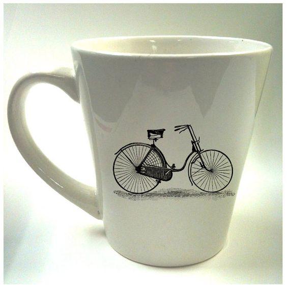 #Bike #Coffee Mug. Who doesn't love BIKES?!