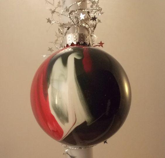 Painted Glass Christmas Ornament OOAK SALE by FriendlyDane on Etsy, $5.00