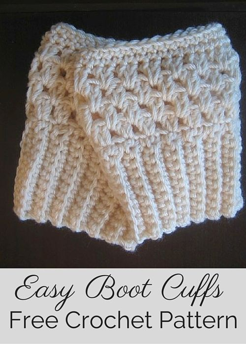 Free crochet pattern by Posh Patterns - easy and elegant boot cuffs/boot toppers.: