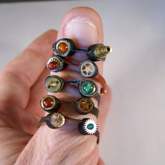 Ring In The Steampunk Decor To Pimp Up Your Home: Miniature Steampunk Goggles By JanDaJewelry.deviantart.com