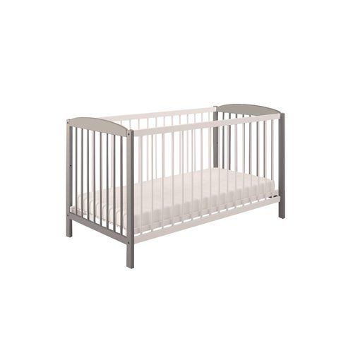 Simple Cot Polini Kids Colour White Grey Baby Cot Bedding