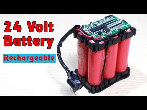 How To Make 24v Rechargeable Battery 6s Lithium Ion Battery Pack Youtube Battery Pack Lithium Ion Batteries Battery