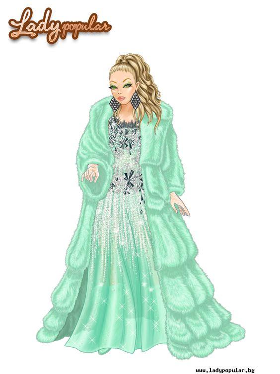 Green snow queen