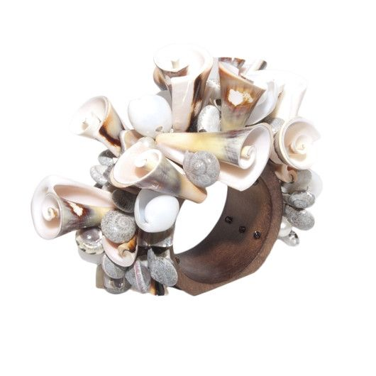 Kim Seybert | Curly Shell Napkin Ring-Set of 4