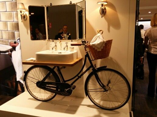 Washbasin-bike on the stand of Clearwater on the Cersaie 2014  :)