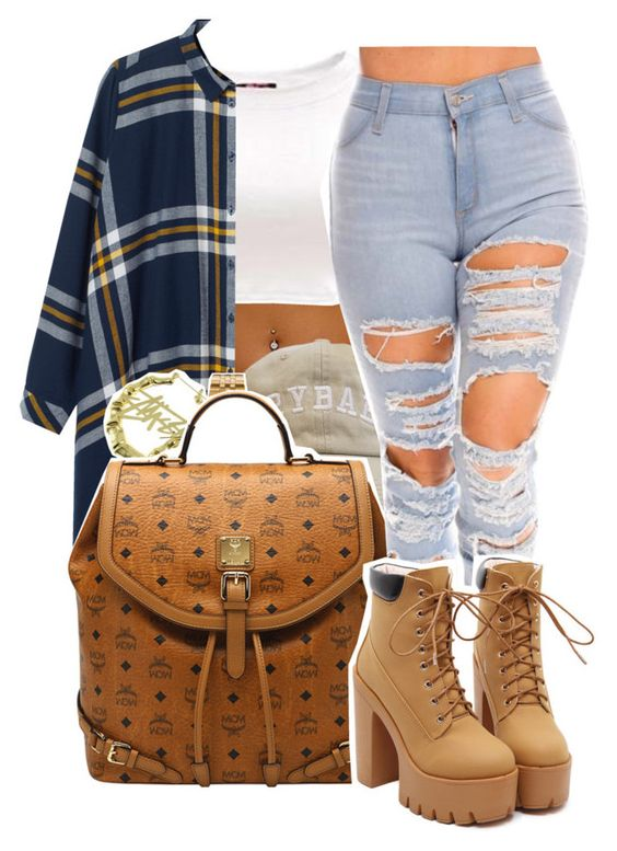 """1202"" by ashley-mundoe ❤ liked on Polyvore featuring Monki, Casio, Stussy and MCM"