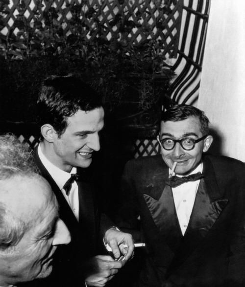 Jean Cocteau, François Truffaut, Claude Chabrol. 1959.