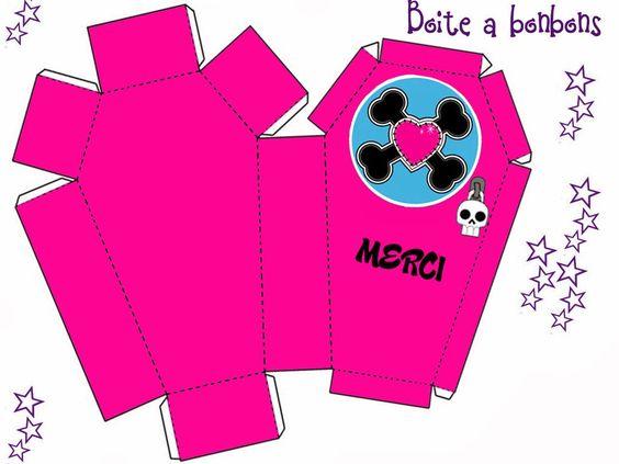 Monster High: Cajas Ataúd para Imprimir Gratis.