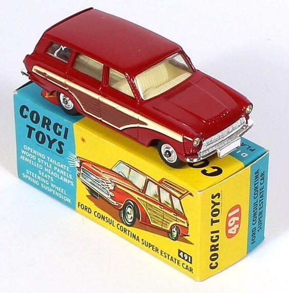 Corgi Toys 491 Ford Consul Estate Pic. by www.QualityDiecastToys.com