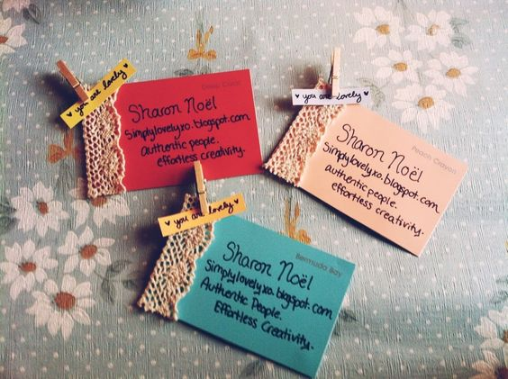 Simply Lovely: homemade business cards | c r e a t e | Pinterest ...