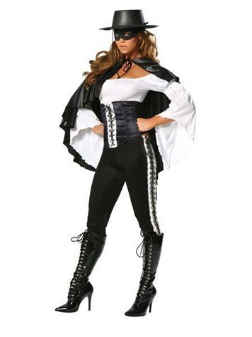 Six Piece Masked Heroine | Sexy Masked Costume, Zorro Movie Costume S/M, M/L $115
