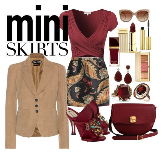 """""""Mini Skirts"""" by marionmeyer on Polyvore featuring Mode, Dsquared2, Tom Ford, N°21, The Code, Alexander McQueen, LE VIAN, STELLA McCARTNEY, Estée Lauder und Lipstick Queen"""