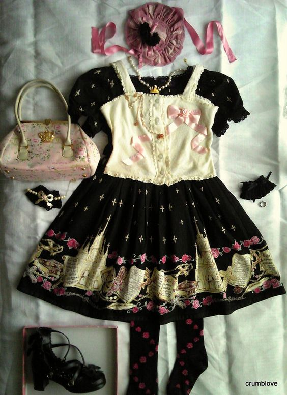 Alice and the Pirates AatP AnP St. Mephisto Catedral coord includes other pieces by Baby the Stars Shine Bright BtssB, Black Peace Now BPN, Emily Temple Cute ETC, Angelic Pretty, and Metamorphose