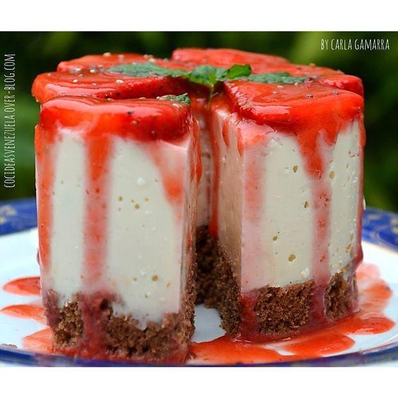 CHEESE CAKE SIN HORNO en 3, 2, 1  aquí les dejamos con mucho cariño este invento a todos los  #cheesecakelovers que dijeron  en el post anterior ... La amarán, es buena, bonita, barata y súper fácil de hacer