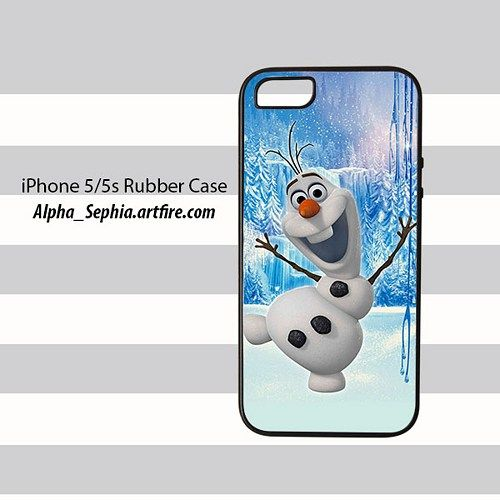 Olaf Frozen iPhone 5 5s Rubber Case Cover
