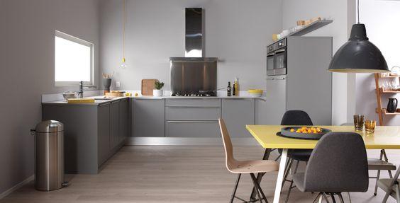 ... : Bruynzeel Atlas keuken in het platinagrijs ONZE KEUKENS Pinterest