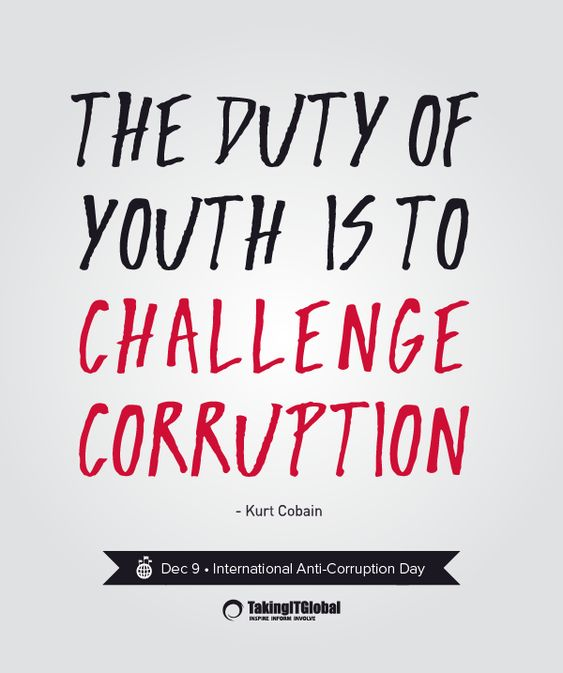 Quotes About Corruption: International Day And December On Pinterest