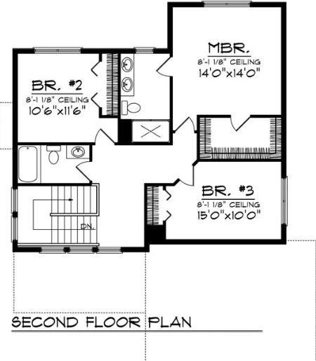 0023 plano de casa de 175 metros cuadrados 3 dormitorios - Plano piso 40 metros cuadrados ...