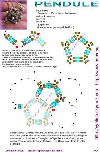 Image - schéma pendentif Pendule 1ère partie - perlomania - Skyrock.com