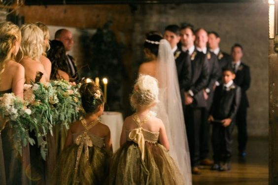 Forest inspired indoor wedding: http://www.stylemepretty.com/2014/07/07/forest-inspired-indoor-wedding/ | Photography: http://www.saralucero.com/