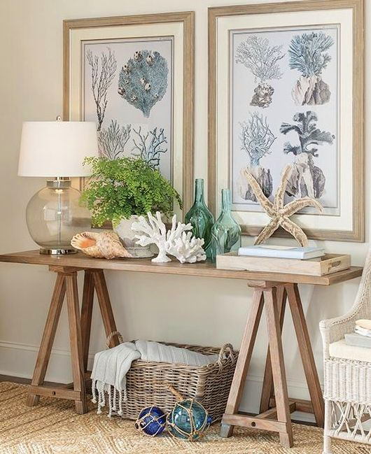 Awesome Coastal Console Tables In 2019 Seaside Home Decor Decor Gmtry Best Dining Table And Chair Ideas Images Gmtryco