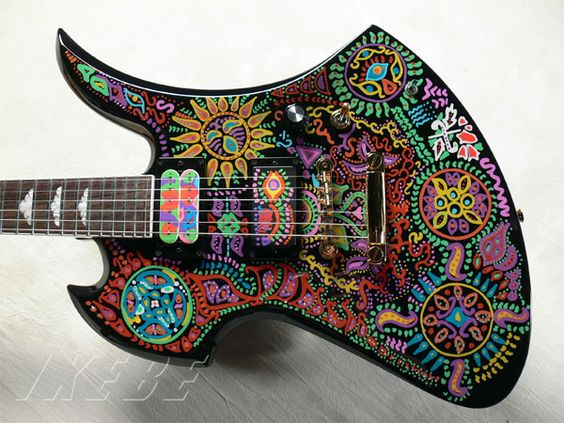hide MG psychedelic paint