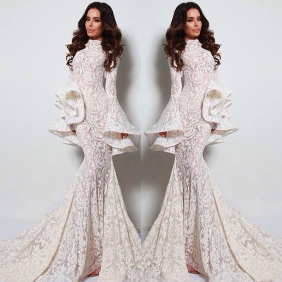 Michael Costello Lace Gown