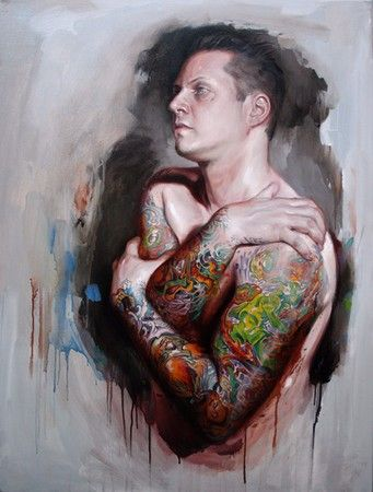 Tattoo painting by Shawn barber