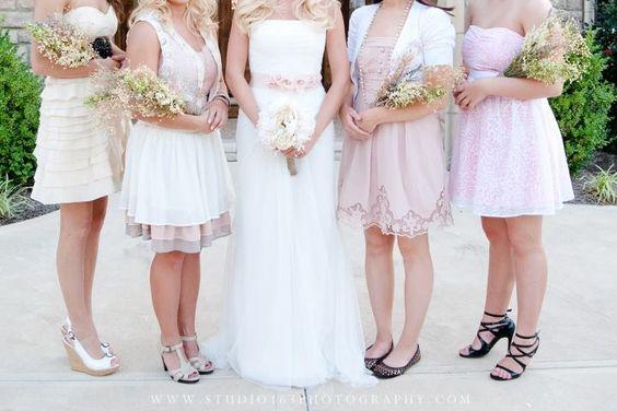 Coordinating neutral dresses
