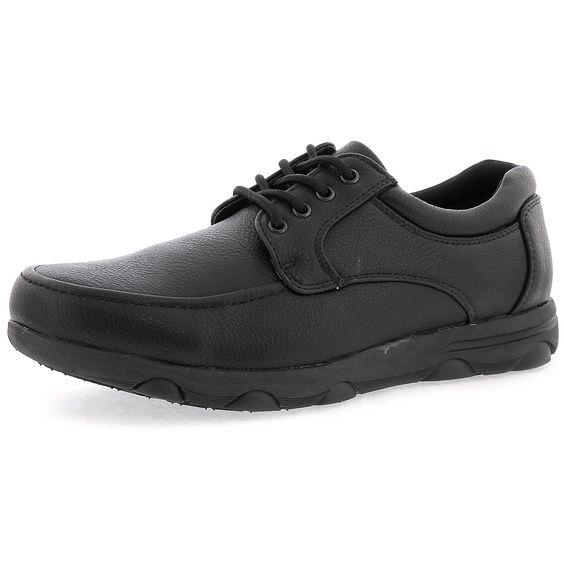 Faranzi - Men's Lace Up Slip Resist Shoes - Black