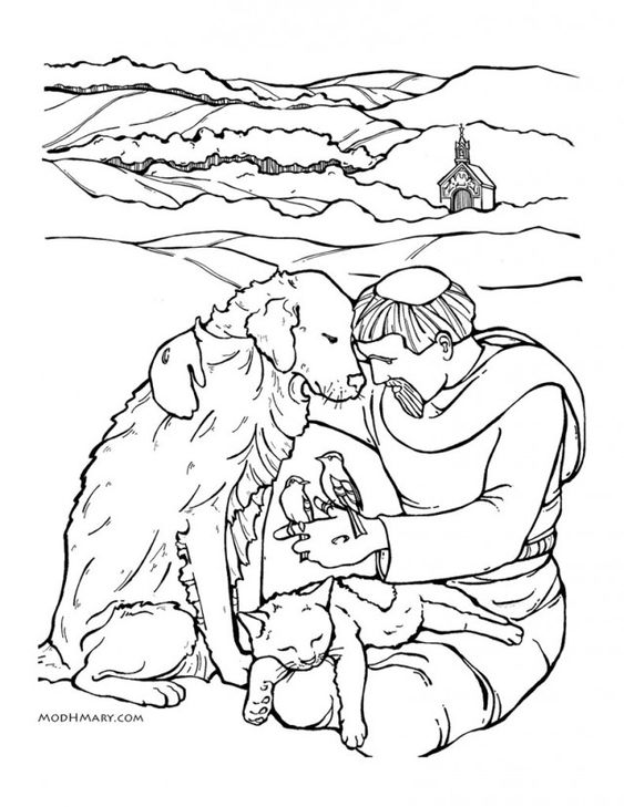 Pinterest the world s catalog of ideas for St francis coloring page