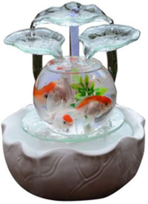 Creative Glass Fish Tank Desk Micro Landscape Decoration Decoration Made Of Ceramic Mini Aquarium Glass Fish Tanks Landscape Decor Indoor Water Fountains