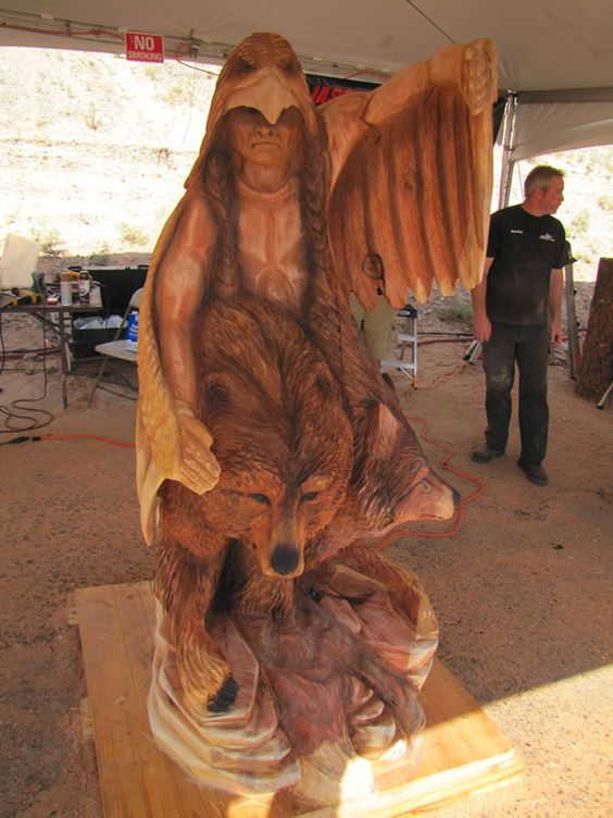 Chain saw carving and chains on pinterest