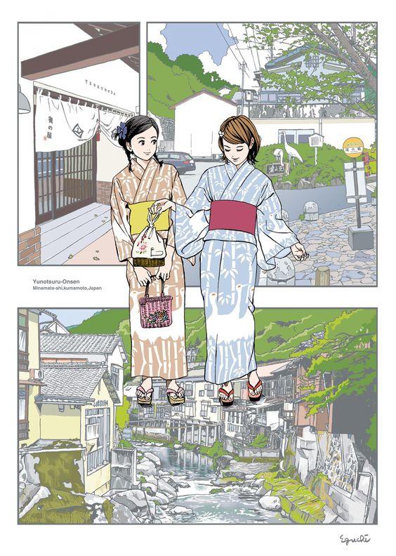 江口寿史の着物画像