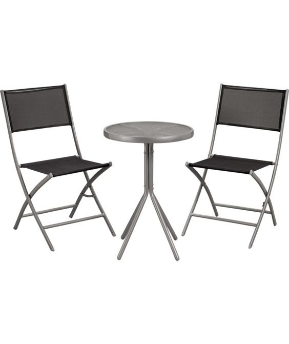 Buy Kara 2 Seater Garden Bistro Furniture Set   Black At Argos.co.uk   Your  Online Shop For Garden Table And Chair Sets.