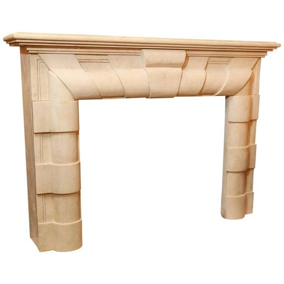 Deco Style Marble Mantle | From a unique collection of antique and modern fireplaces and mantels at https://www.1stdibs.com/furniture/building-garden/fireplaces-mantels/