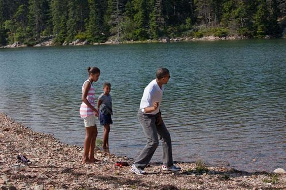 The list of life skills passed along includes many things, even skipping rocks. –mo