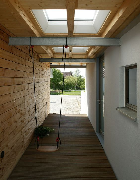 durchgang zwischen haus und garage zum eingang carport. Black Bedroom Furniture Sets. Home Design Ideas