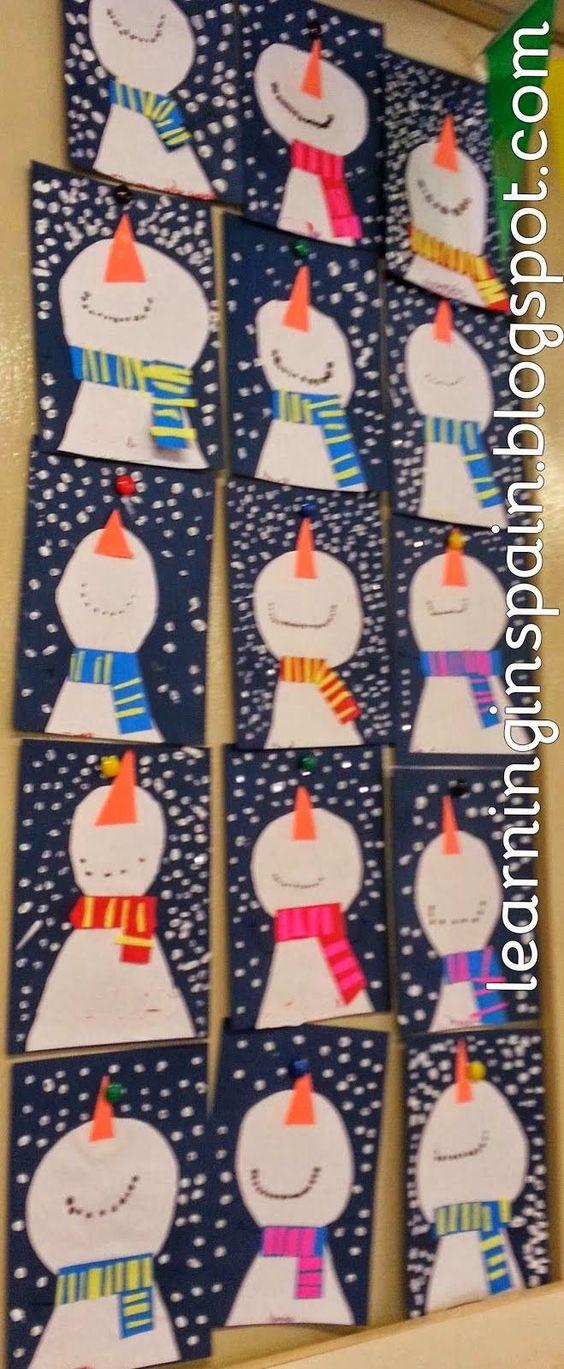 winter snowman craft- so cute!