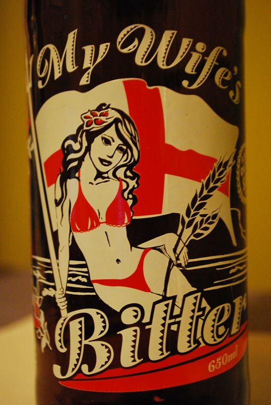Funny Beer Label - My Wife's Bitter!: Australian Beer, Beer Beer, Wine Labels, Beer Packaging, Beer Funny, Funny Beer, Interesting Labels, Craft Beer Labels