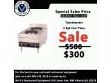 Limited time offer on Toastmaster 2 EyE Hot Plate was $500 now only $300. For the best in new and used restaurant equipment give us a call 404-521-2332 or come by to Mr.V's Restaurant Equipment 510 Jones Ave. NW Atlanta,GA 30314.