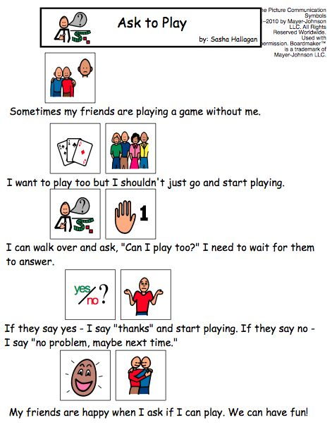 Ask to Play - Visual Story for kids with autism